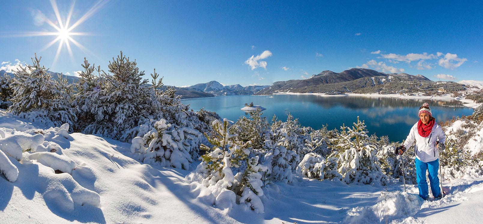 Lac de Serre-Ponçon en hiver