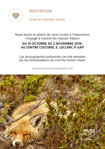 Exposition Voyage à Travers les Hautes-Alpes