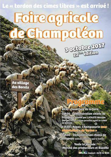 foire agricole de Champoleon