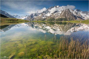 La meije et lac d'altitude