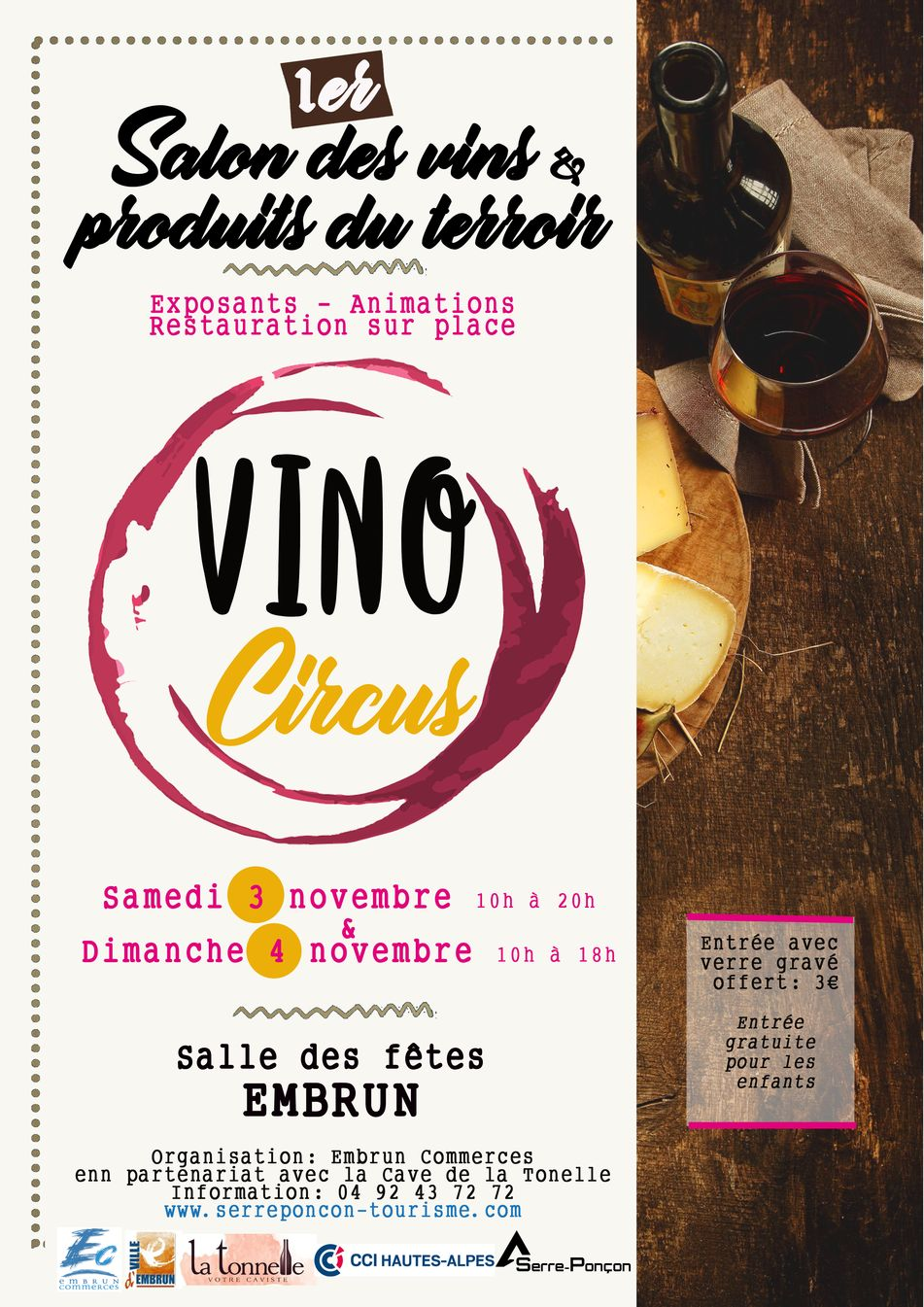 Vino Circus, le premier salon des vins et produits du terroir à Embrun